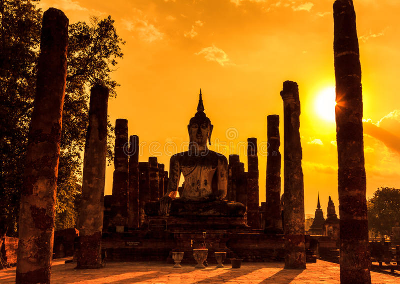 历史公园sukhothai泰国 图库摄影