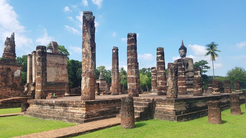 历史公园sukhothai 免版税库存图片