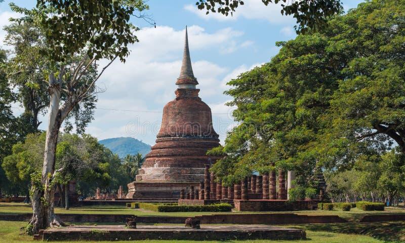 历史公园sukhothai 免版税库存照片