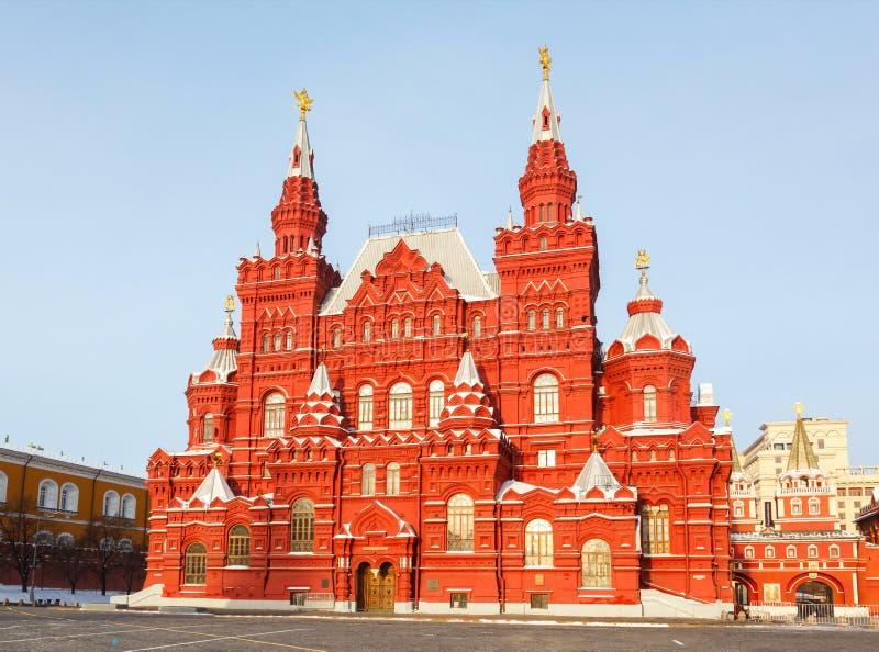 历史博物馆在红场的在莫斯科,俄罗斯 库存照片