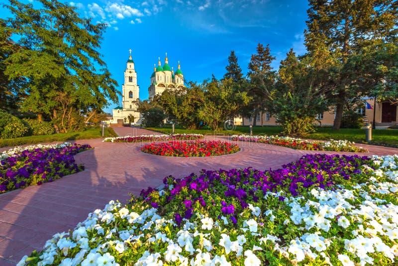历史和建筑复杂阿斯特拉罕克里姆林宫,俄罗斯 图库摄影
