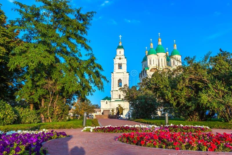 历史和建筑复杂阿斯特拉罕克里姆林宫,俄罗斯 库存照片