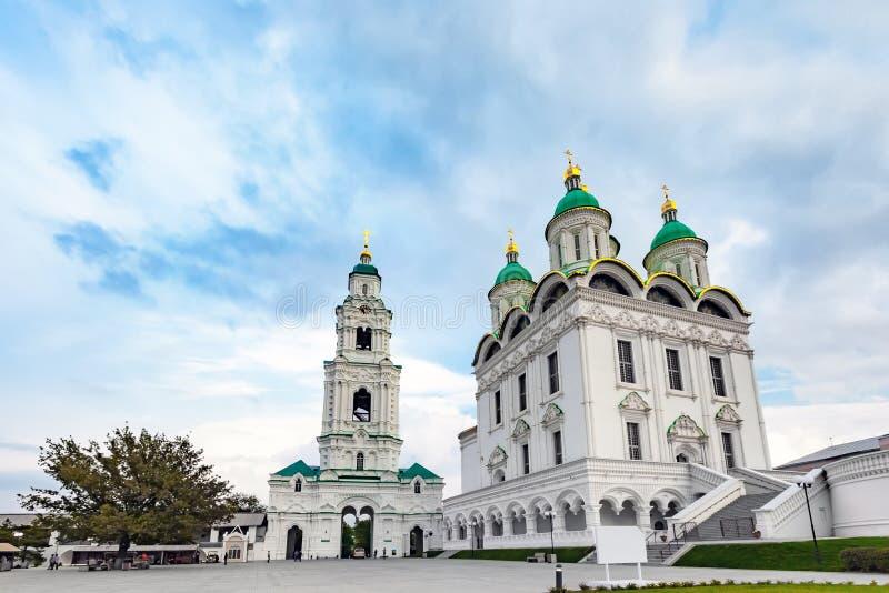历史和建筑复杂阿斯特拉罕克里姆林宫,俄罗斯 免版税库存图片