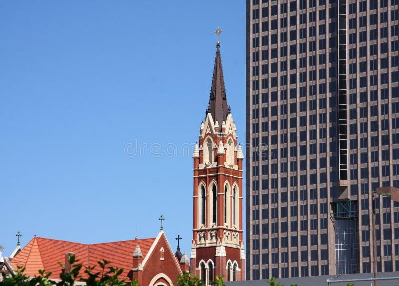 历史和现代大厦 免版税库存图片