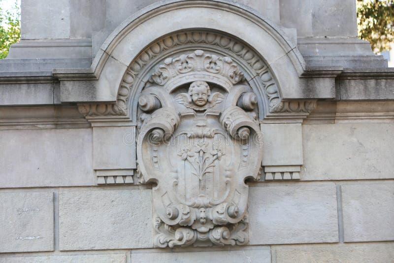 历史和艺术性的大厦,巴塞罗那 库存照片