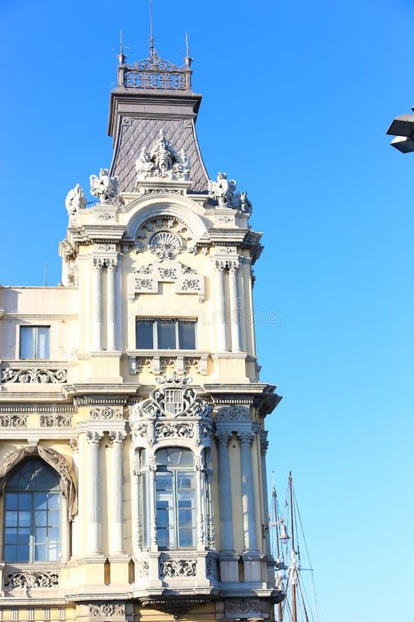 历史和艺术性的大厦,巴塞罗那 免版税图库摄影