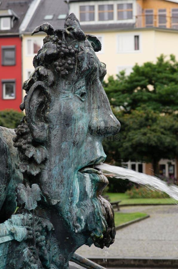 历史喷泉,科布伦茨 免版税库存图片