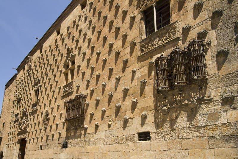 历史图书馆在萨拉曼卡,西班牙 库存图片