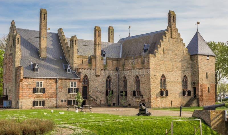 历史城堡Radboud在梅登布利克 库存照片
