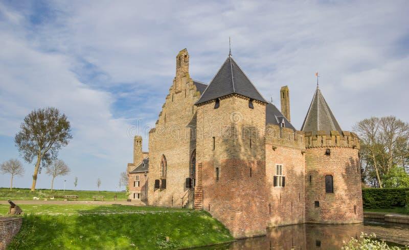 历史城堡Radboud在梅登布利克 免版税图库摄影