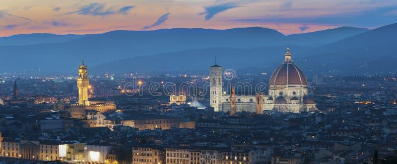 历史城市佛罗伦萨,托斯卡纳,意大利地平线  库存照片