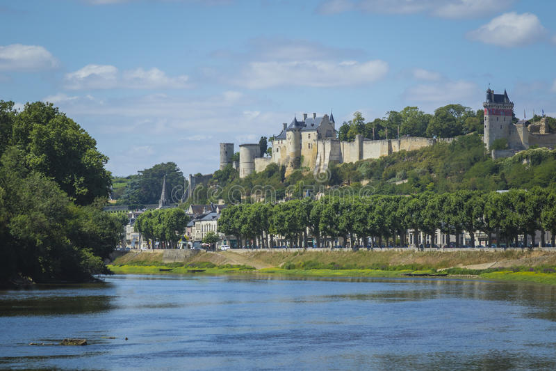 历史城市希农,法国 免版税库存图片