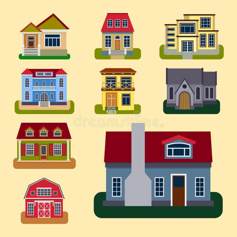 历史城市现代世界最参观了著名特别房屋建设前面面孔门面传染媒介例证 库存例证