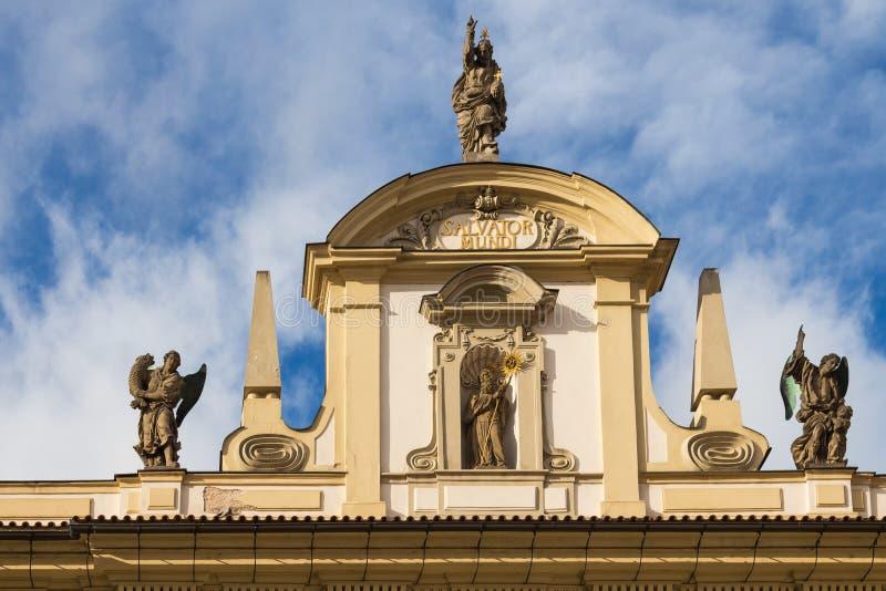 历史大厦细节在布拉格,捷克共和国 图库摄影
