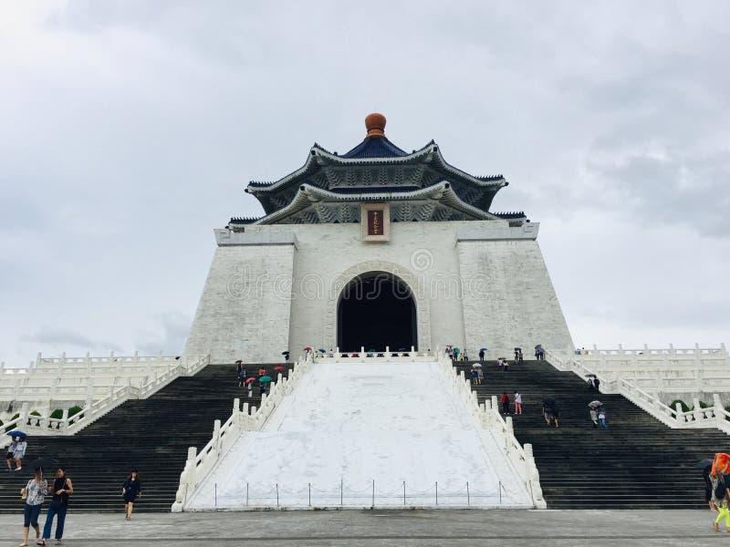 历史大厦,全国中正纪念堂是一著名国家历史文物、地标和旅游景点 库存照片
