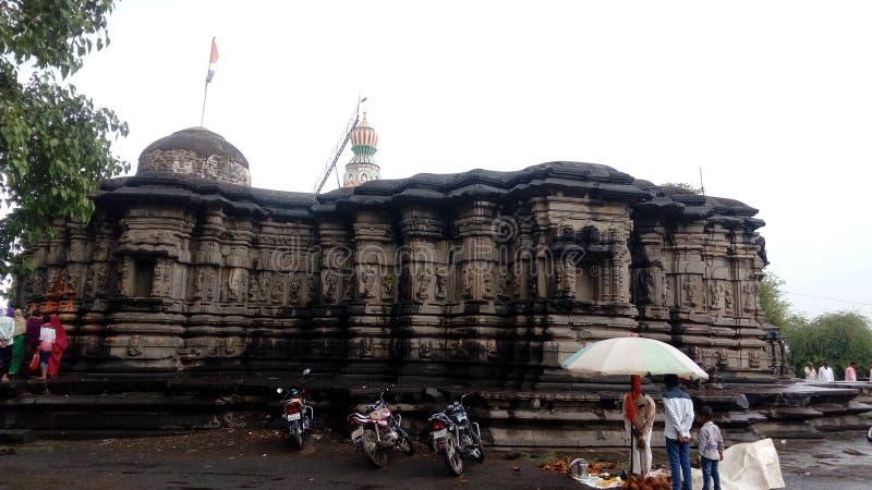 历史寺庙mankeshwar 库存照片