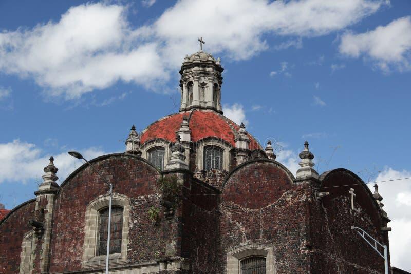 历史建筑在墨西哥城的中心 免版税库存照片