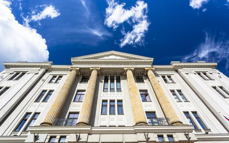 历史建筑在老里加 免版税库存图片