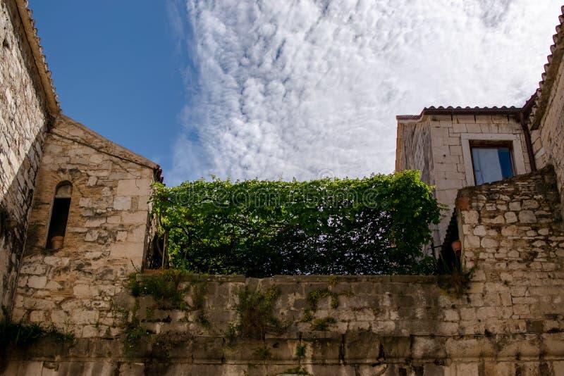 历史建筑的对称在中心 库存照片