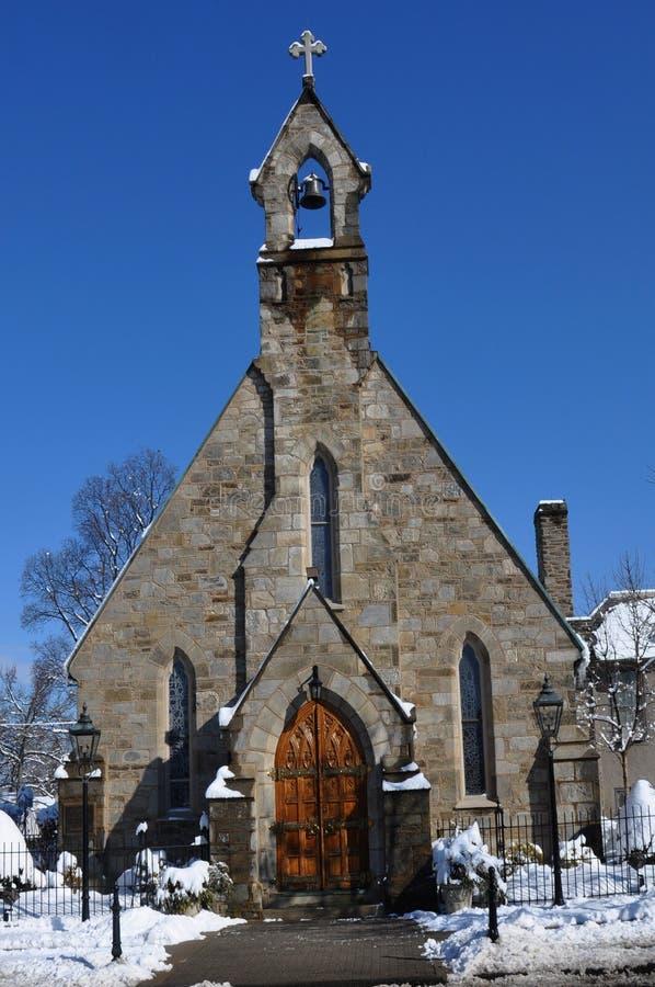 历史教会 免版税库存图片
