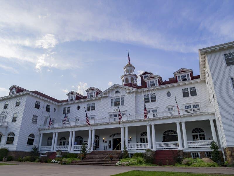历史斯坦利旅馆在Estes公园 库存照片