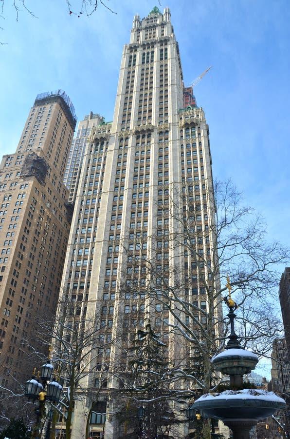 历史的伍尔沃思大厦, NYC 库存照片