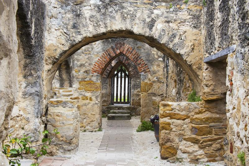 历史的使命圣荷西在圣安东尼奥,得克萨斯 库存照片