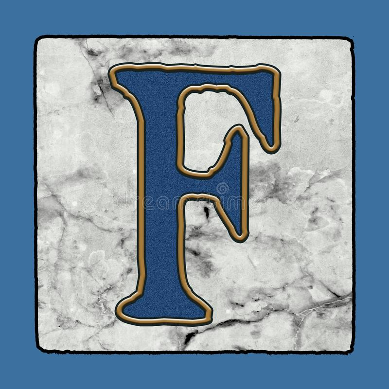 历史的偶象经典新奥尔良街铺磁砖边路信件字母表难看的东西数字&标志 皇族释放例证