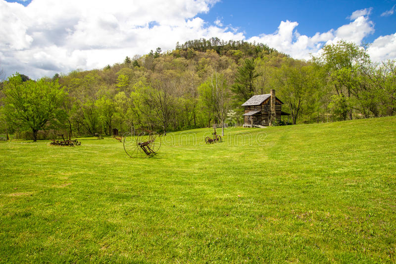 历史的先驱农场在肯塔基 免版税库存照片