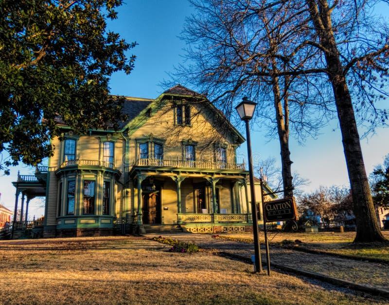 历史的克莱顿议院在史密斯堡,阿肯色 库存照片