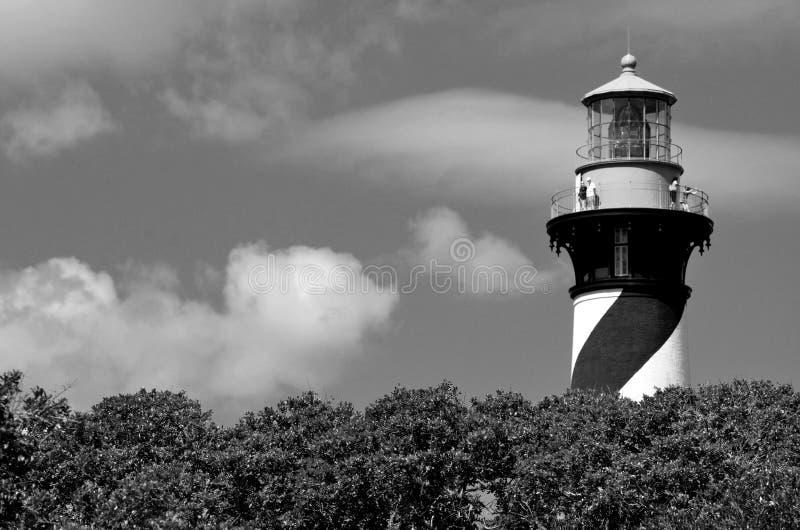 历史的圣奥斯丁,佛罗里达灯塔 免版税库存图片