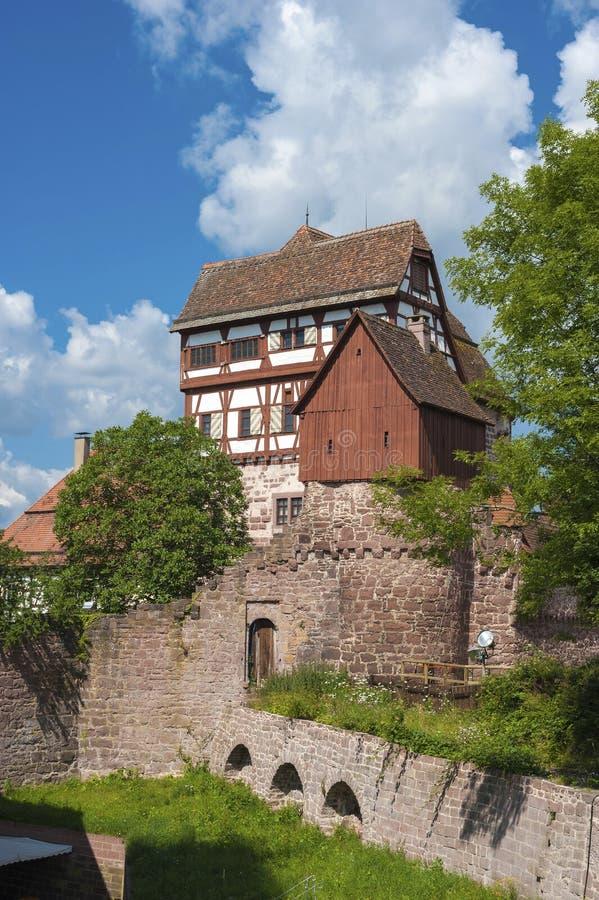 历史的城堡在阿尔滕斯泰希 黑森林, Baden-Wurttembe 免版税图库摄影