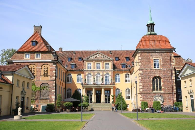 历史的城堡费伦在Muensterland,西华里亚,德国 免版税库存图片