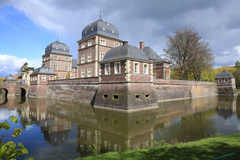 历史的城堡阿豪斯在西华里亚,德国 库存图片