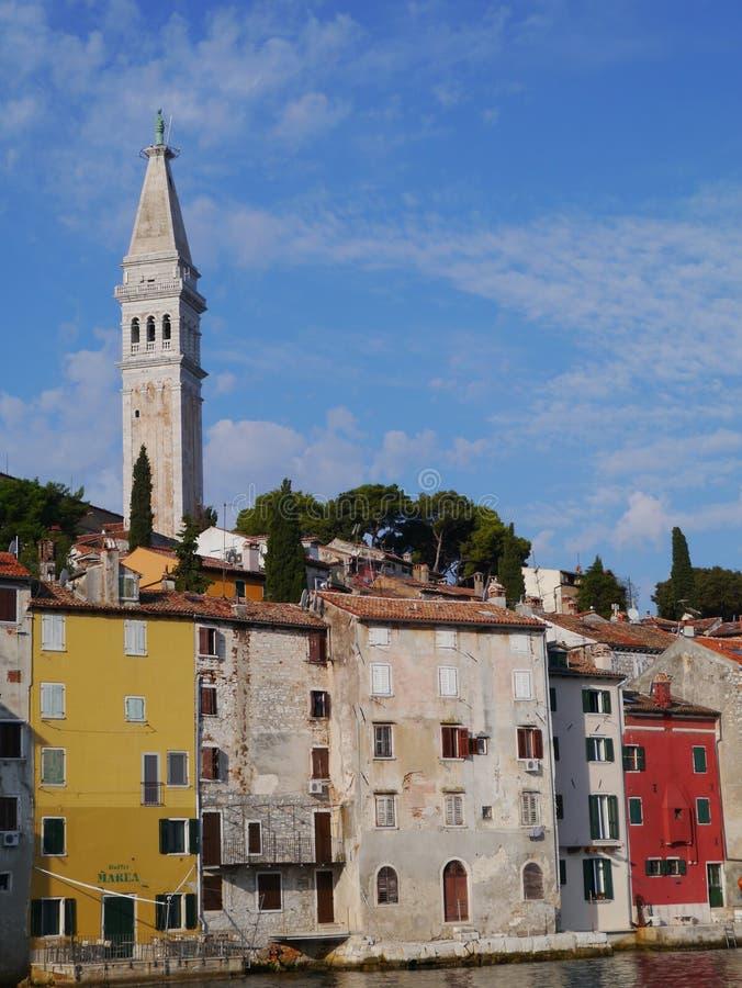 历史的城市罗维尼在Istria在克罗地亚 库存图片