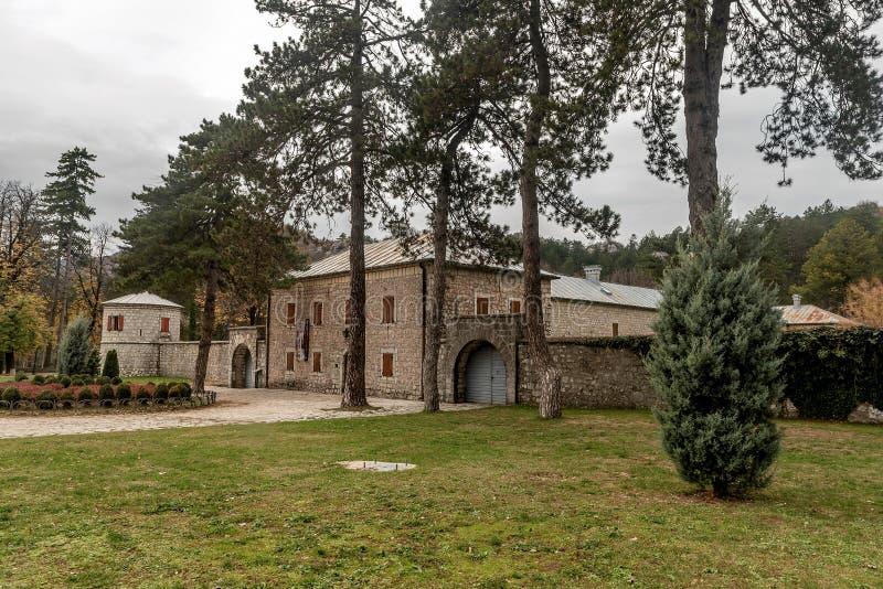历史的堡垒Biljarda在城市采蒂涅的中心修造了 库存照片