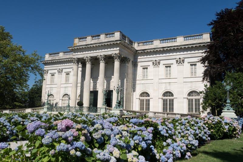 历史的大理石房子在纽波特,罗德岛 免版税库存图片