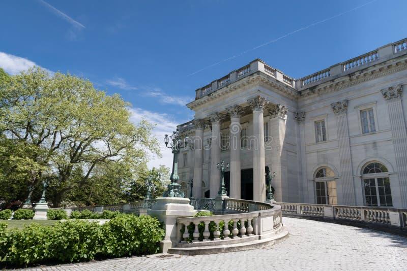 历史的大理石议院豪宅在纽波特,RI 免版税库存照片