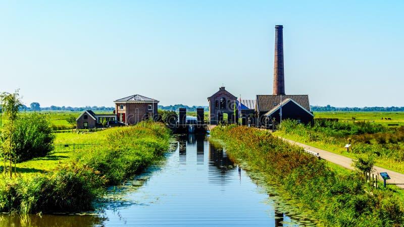 历史的奈凯尔克泵站或Nijkerk& x27; 在Veluwemeer的s Gemaal 库存照片