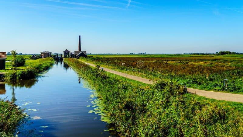 历史的奈凯尔克泵站或Nijkerk& x27; 在Veluwemeer的s Gemaal 库存图片