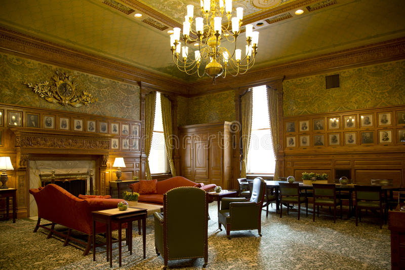 历史的室在大量状态房子里  免版税图库摄影