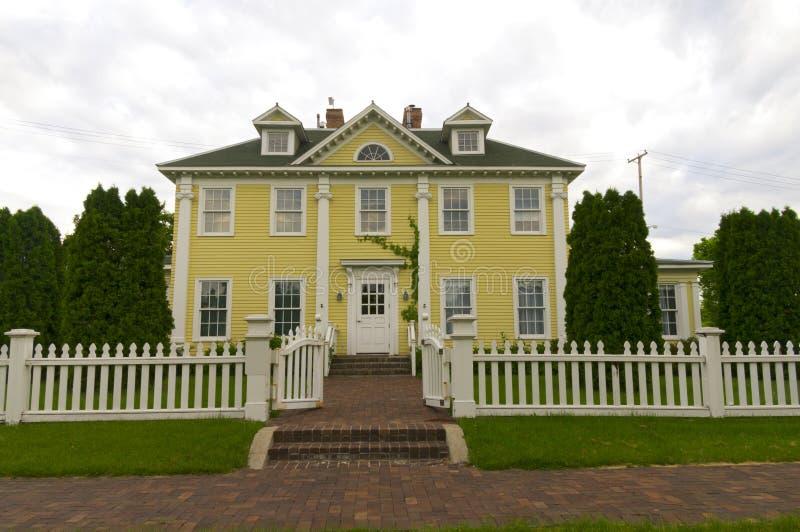 历史的家在Minnehaha公园 免版税库存照片