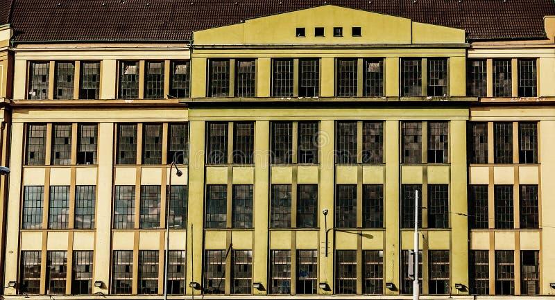 历史的工厂门面 免版税图库摄影