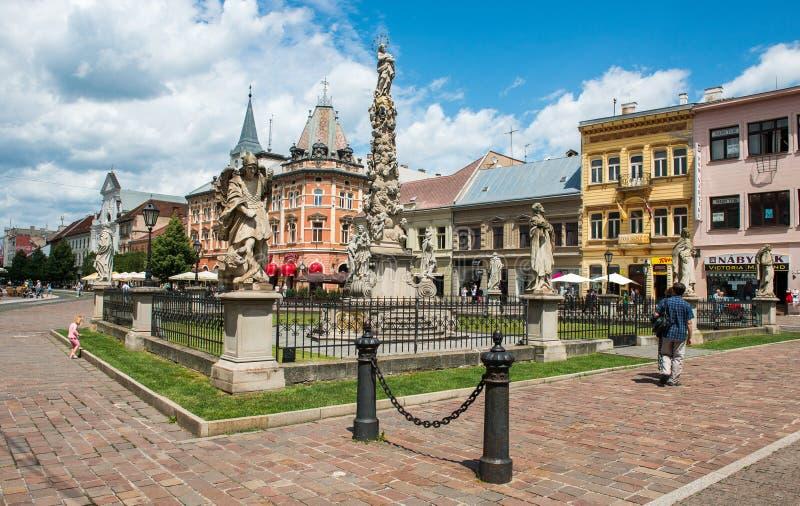 历史的市中心在科希策,斯洛伐克 免版税图库摄影