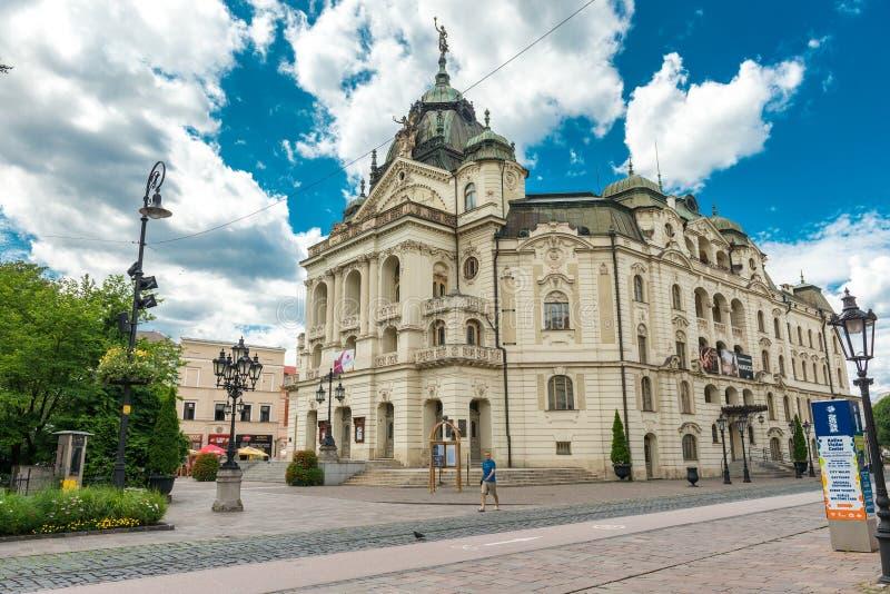 历史的市中心在科希策,斯洛伐克 库存照片