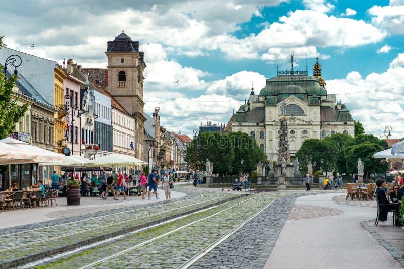 历史的市中心在科希策,斯洛伐克 免版税库存图片