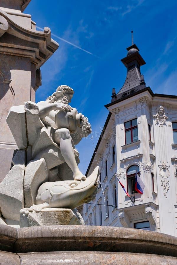 历史的建筑学,卢布尔雅那,斯洛文尼亚,东欧 免版税库存照片