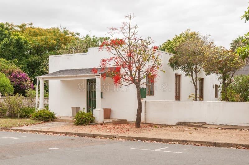 历史的房子,海得尔堡,南非 免版税图库摄影