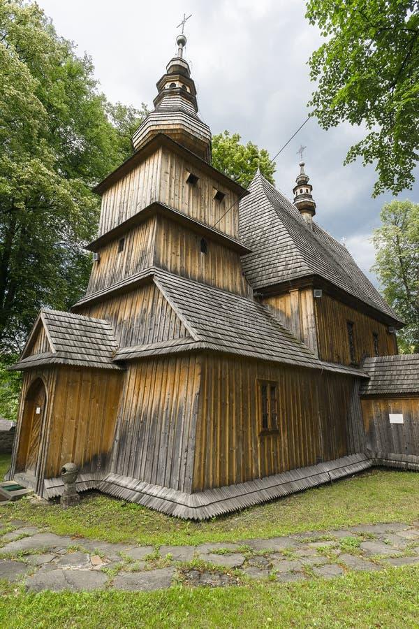 历史的教会,村庄Przydonica,波兰 免版税库存照片
