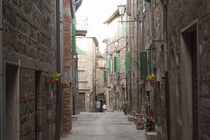 历史的村庄圣菲奥拉格罗塞托意大利的看法 库存照片